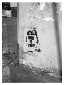 john-yoko-war stencil wall